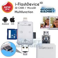 Jual Paling Laris i-Flash Multifunction OTG Apple Lightning + Android USB + Murah