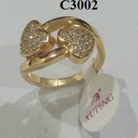 Jual limited Cincin Xuping 2 Love Zircon, C63 (kalung bros anting gelang be Murah