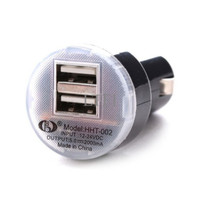 2000mA dual usb lighter Car Charger Power Adapter Cigarette - Best Sel