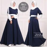 Baju Wanita Muslim Maxi Long Dress Gamis Modern Moeza Dress