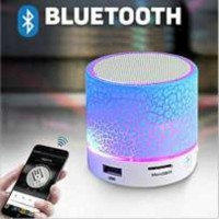 Speaker box Bluetooth LED s10 model kaca retak