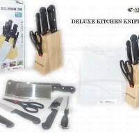 Jual Deluxe Kitchen Knife Set - Isi 6 Pcs Berkualitas Murah
