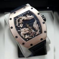 Jam Tangan Richard Mille Dragon Rm 057 Jakie Chan Rosegold