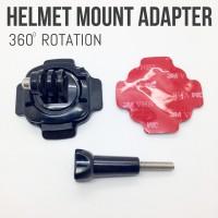 Jual 360 Rotation Mount Helmet Mount GoPro Xiaomi YI SJCAM BPro Kogan Murah
