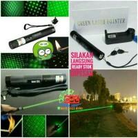 Green Laser Pointer 303 Senter Hijau Kurang10.000mW Kunci Rechargeable