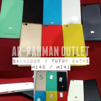 Jual Original Backdoor Xiaomi Mi4c / Mi4i Casing tutup belakang cover backc Murah