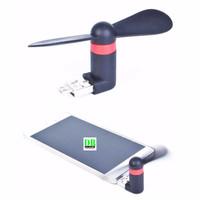 Jual Micro USB OTG Mini Portable Fan for Android Smartphone - Black Murah