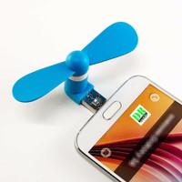 Jual Micro USB OTG Mini Portable Fan for Android Smartphone - Blue Murah