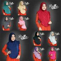 Jual Termurah DISKON Hijab Instant Ruffle Bergo Murah