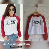 Jual BEST SELLER Love Yourself Crop Hoodie Murah