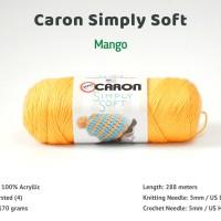 Benang Caron Simply Soft - Mango (9605)