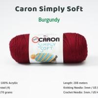 Benang Caron Simply Soft - Burgundy (9762)