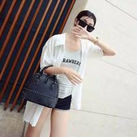 Jual Turun Harga Tas Handbag Selempang Studded Wanita Cantik 93315 Black Im Murah