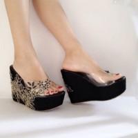 Jual Sepatu Sandal Wanita Cewek High Heels Wedges Murah Terbaru Murah