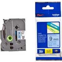 Jual Brother Label Tape TZE 521 - 9mm Black on Blue Brother Label Printer Murah