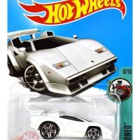 Jual  Lamborghini Countach Putih / White Tooned - Hot Wheels Hw Mtf36 Murah