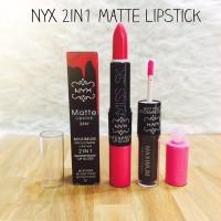 Jual NYX 2 in 1 Maximum Pro Matte Lipstick (waterproof lipgloss) Murah