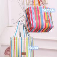 Jual 9037 Lunch bag Cooler bag salur (bonus 2pcs jelly ice cooler) Murah