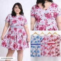 Jual AzvSy Plowery Pleated Bla Mini Dress Murah