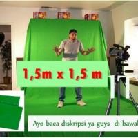 Green screen kain background foto hijau 1,5 x 1,5 m