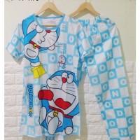 STDR175 - Setelan Panjang Dress Celana Doraemon Blue Puppet