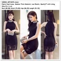 Jual Sexy Party Lace Mini Dress Brukat Pesta Baju Wanita Korea Import Black Murah