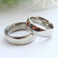 Cincin Kawin Silver Ring Couple Titanium Cewek Cowok Polos Bagus Unik