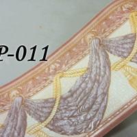 Jual BP011 GOLD CLASSIC TASSEL WALL BORDER PREMIUM TEKSTUR TIMBUL 10CM X5M Murah