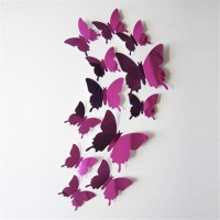 62F2 Removable LED Butterfly Wall Stickers Glowing 3D Butterfly Home Decor DIY
