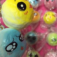Squishy panda bun emoticon small/ gantungan kunci squishy