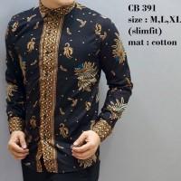 Jual Pakaian Batik Kemeja Pria Slimfit Merk Odza Lengan Pendek ODF 103 Murah