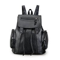 tas ransel backpack mini leather kulit black hitam wanita korea import
