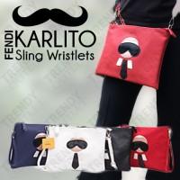 Fendi Karlito Sling Bag / Clutch Kumis Lucu