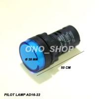 Jual Pilot Lamp AD16-22 AC 220 Volt Warna Biru Limited Murah