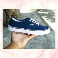 Sepatu Vans Authentic Navy Blue/Biru Dongker Waffle ICC