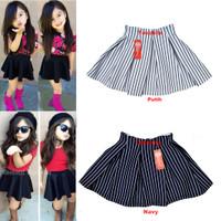 Jual Bubble Skirt Salur  Rok Scuba Anak Murah