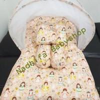 Kasur Bayi/matras Bayi/kelambu Lipat/bantal Peyang Sweet Annie Peach