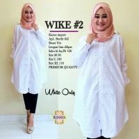 Atasan Wanita Blouse Muslim Tunik Polos Busui Putih M L Xl Jumbo Wike2