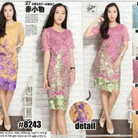 Jual KD - 3611 Dress Full Brokat Fashion Import Murah