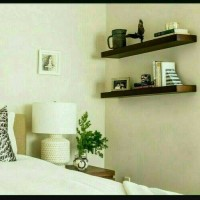 Floating shelf 50x25cm Rak Dinding Tempel TV DVD Modern Minimalis