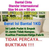 Jual Bantal Cinta isi silikon bukan Dakron / Bantal Hotel / Jamu Herbal Murah