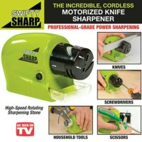 Jual SWIFTY SHARP / ASAHAN PISAU OTOMATIS MOTORIZED KNIFE SHARPENER Murah