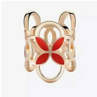 cincin / ring hiasan jilbab / syal / kerudung merah