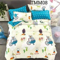 Bed cover set katun jepang Animal Size 160x200/180x200