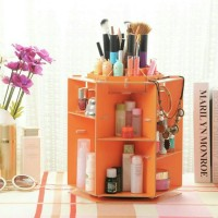 Jual Desktop storage rotate kotak kuas make up kutek rak kosmetik Murah