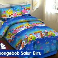 Jual SPREI KATUN CVC 180x200 spongebob blue sea Murah