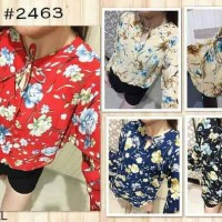 Jual trompet layer flower crepe top Murah