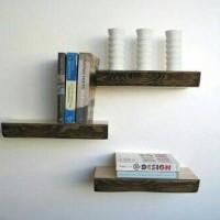 Floating shelf 30x20cm Rak Dinding Tempel TV DVD Modern Minimalis