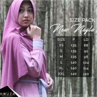 Jual Dress / Gamis Nayla Black by Mouza Muslimah sz XL, XXL Murah