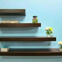 Floating shelf 60x10 Rak Dinding Tempel TV DVD Modern Minimalis